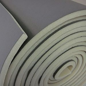Scrim foam for vehicle trimming and furniture upholstery